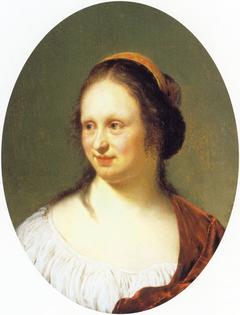 Portrait of Cunera van der Cock, the painter's wife
