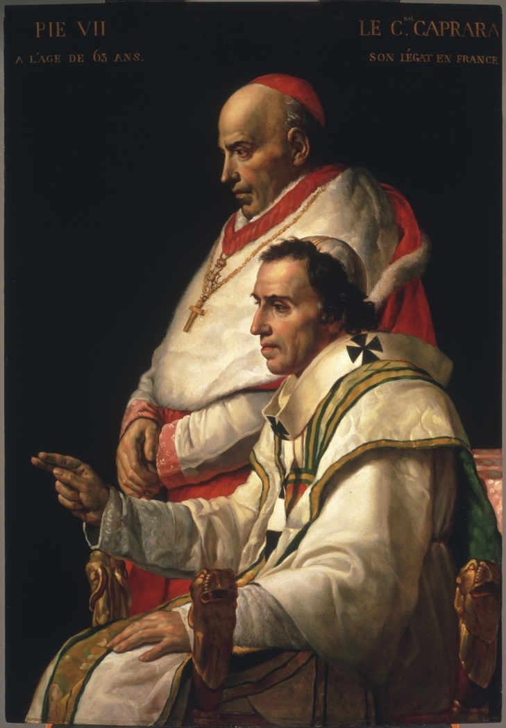 Portrait of Pope Pius VII and Cardinal Caprara