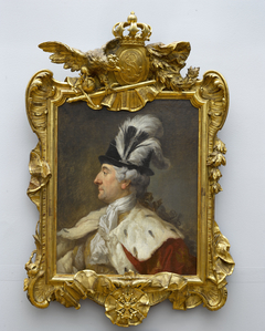 Portrait of Stanisław August in a feathered hat