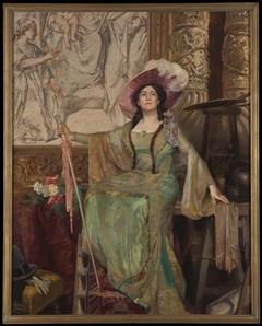 Portret van Alida Klein in de rol van Floria Tosca
