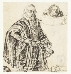 Portret van Prins Maurits en een ring met zijn beeltenis