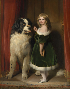 Princess Mary of Cambridge with Nelson, a Newfoundland dog