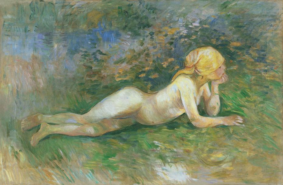 Reclining Nude Shepherdess