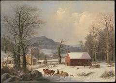 Red School House (Country Scene)
