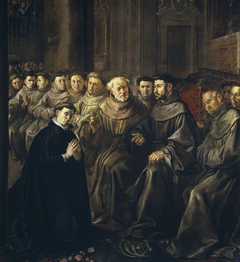 Saint Bonaventure receiving the Habit from Saint Francis