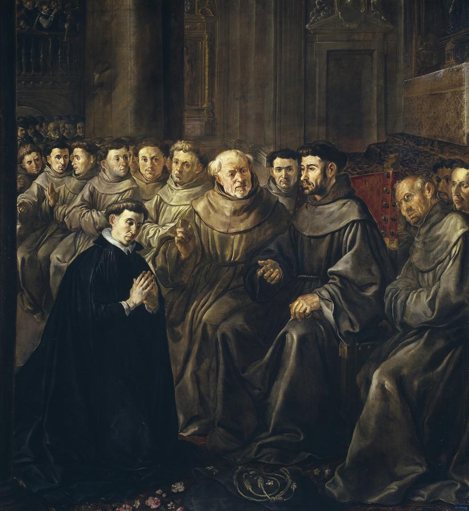 Saint Bonaventure receiving the Habit from Saint Francis