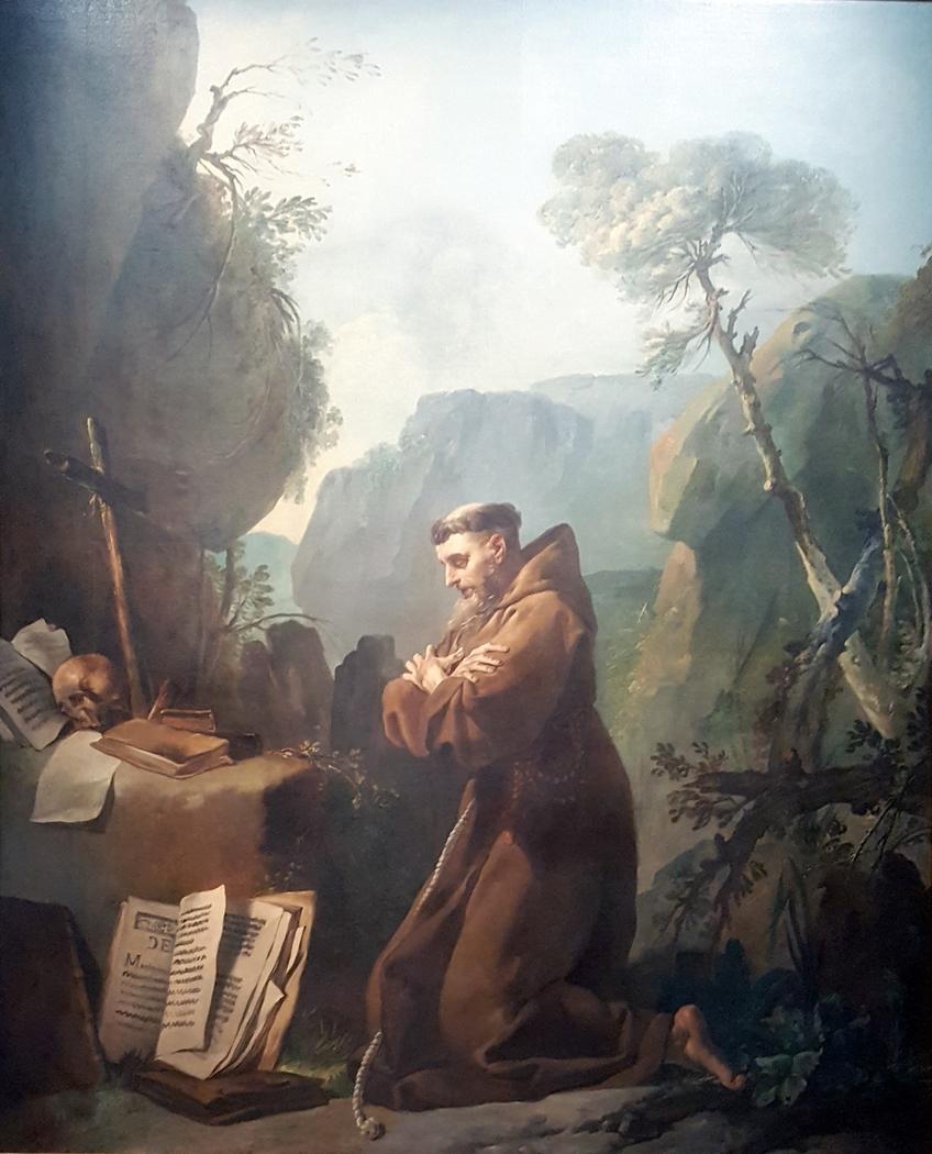 Saint François d'Assise en prière