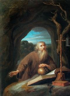 Saint Jérôme en prière dans une grotte
