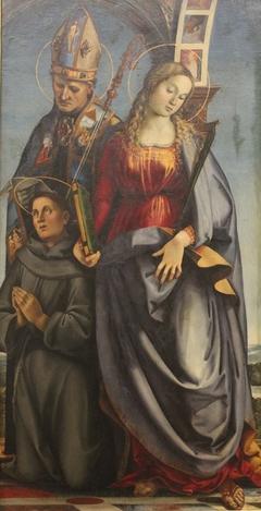 Saints Augustinus, Saint Catherine of Alexandria and Saint Anthony of Padua