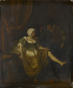 Scene in a Brothel with an Old Man Giving Money to a Girl