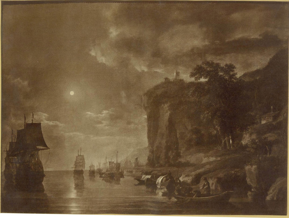 Seascape with Full Moon