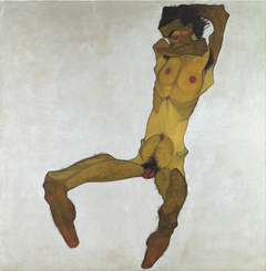 Seated Male Nude (Self-Portrait)