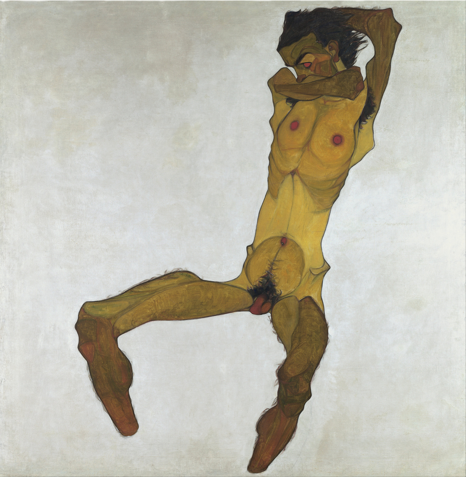 Seated Male Nude (Self-Portrait)