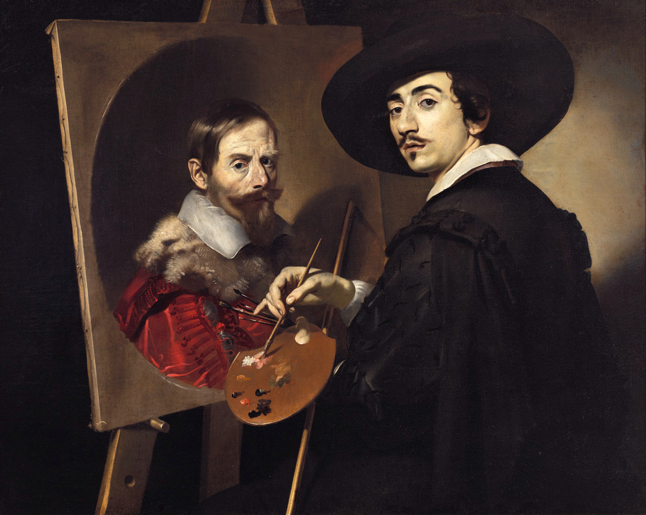 Self-Portrait with a Portrait on an Easel