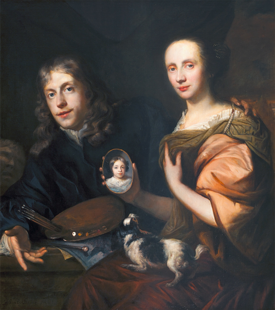 Self-Portrait with His Wife Maria