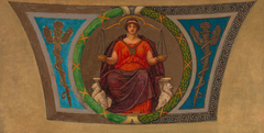 "Sketch for Mosaic, Wisconsin State Capital, ""Justice"""