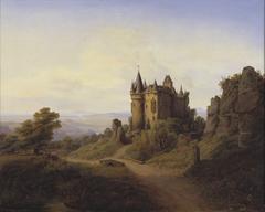 Slottet Büresheim ved Eifelfloden