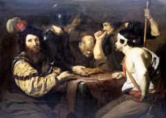 Soldats jouant aux dés la tunique du Christ.