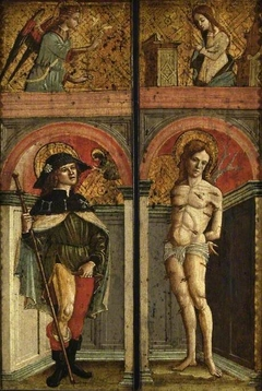 St Roch and St Sebastian; above, The Annunciation