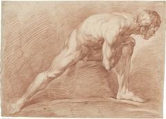 Staand mannelijk naakt, in spreidstand