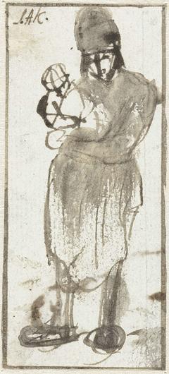 Staand persoon met kind op de arm