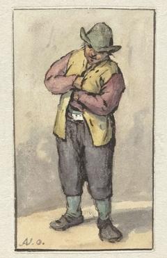 Staande boer met groene hoed