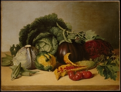 Still Life: Balsam Apple and Vegetables