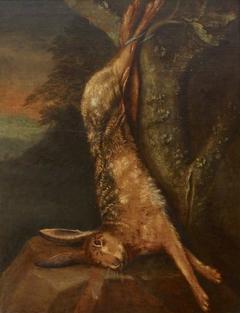 Still Life of a Dead Hare Strung up
