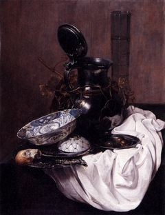 Still Life with a Pewter Pitcher and a Chinese Bowl