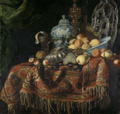 Still Life with Fruit, Plates and Dishes on a Turkey Carpet