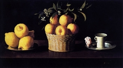 Still Life with Lemons, Oranges and a Rose
