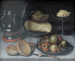 Still Life with Pewter Jug, Fruit and Cheese