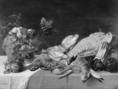 Still Life with Small Game, Fruit, Lobster and a Squirrel