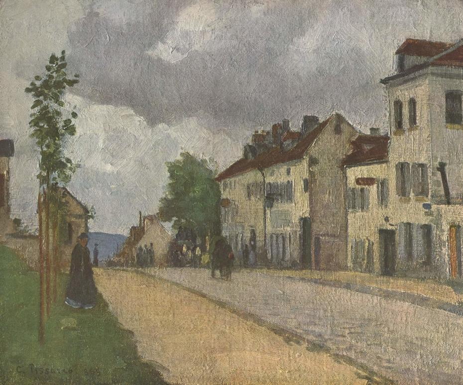 Street in Pontoise (Rue de Gisors)