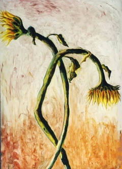 sunflower painting sunflowers paintings oil on canvas raphael perez israeli painter flower artworks flowers artwork