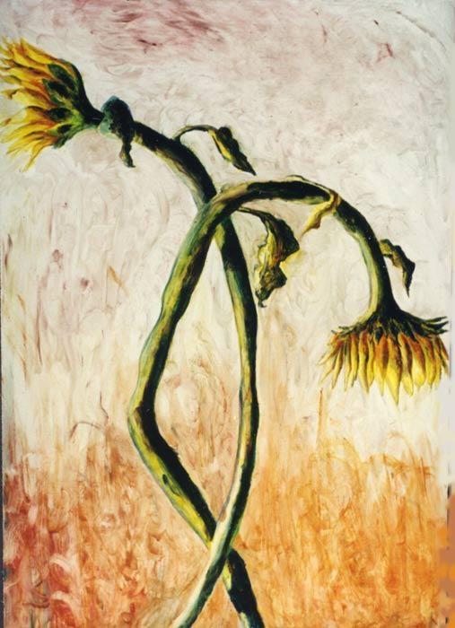 sunflower painting sunflowers paintings oil on canvas raphael perez israeli painter flower artworks flowers artwork