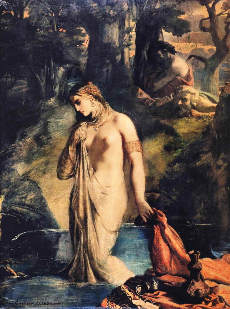 Susanna bathing.