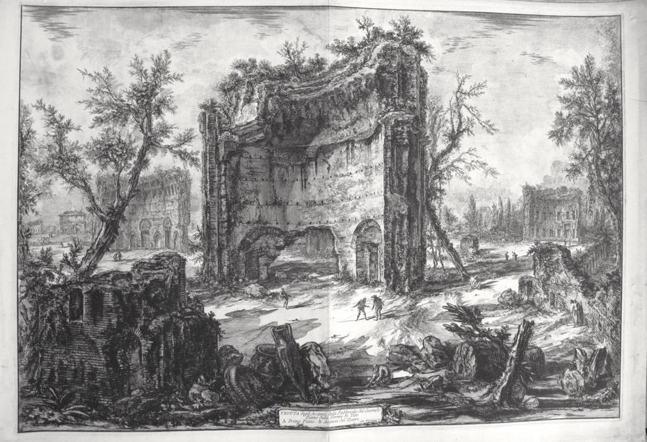 The baths fo Trajan (Erroneously called baths of Titus)