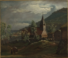 The Church at Gaupne in Sogn