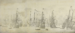 """The Failed Attack of the English on the Return Fleet in the Port of Bergen, Norway, 12 August 1665"
