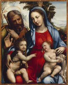 The Holy Family and St. John