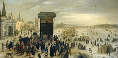 The Kranenhoofd on the Scheldt, Antwerp (Winter Pastime on the Scheldt in Antwerp)