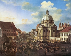 The New Town Market Square with St. Kazimierz Church