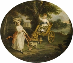 The O'Neill Boys with a Chariot in the Grounds of Shane's Castle