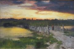 The Old Bridge over Hook Pond, East Hampton, Long Island, New York