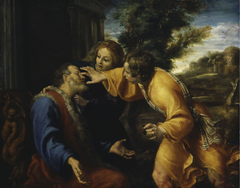 Tobit heals his father's eyes