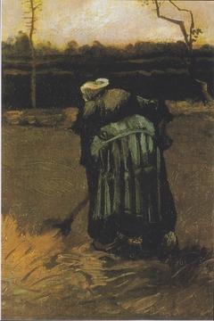 Digging over Peasant woman