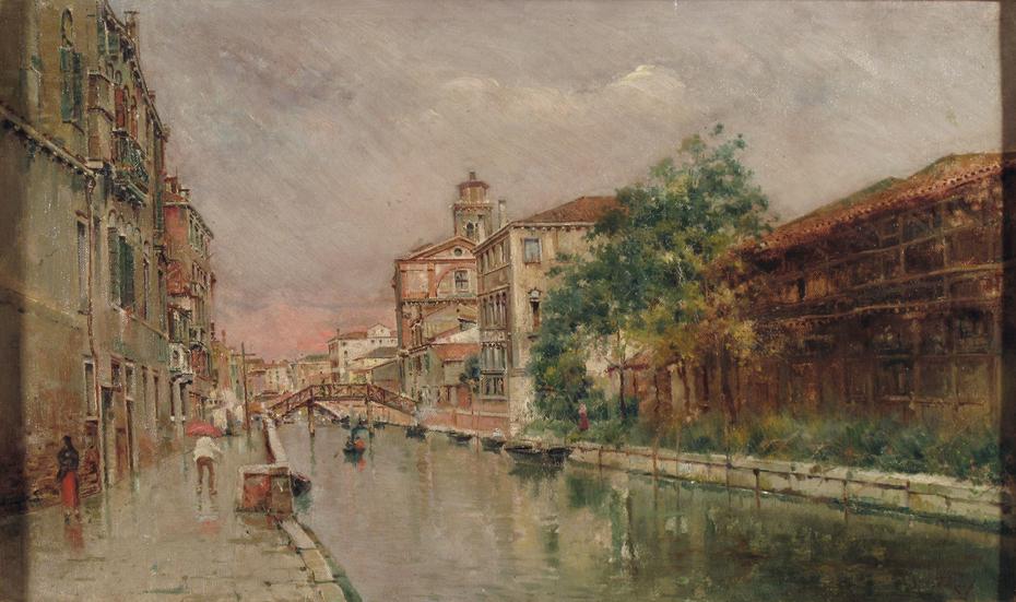 Venetian Canal under the Rain