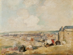 View of Dieppe from the top of the Cliff