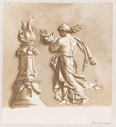 Vrouw bij een altaar